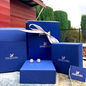 SWAROVSKI Angelic Pierced Earrings w/ Bag + Boxes